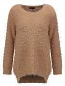 FLUFFY SLOPPY - Maglione - camel
