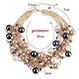Design elegante di alta qualità, robusto e girocollo-Collana di perle