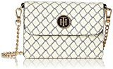 Tommy Hilfiger American Icon Mini Crossover Net - Borse a tracolla Donna, Weiß (Net Print), 5x11x16 cm (L x H D)