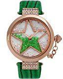 Time W50058L.01A - Orologio da polso da donna, cinturino in pelle colore verde