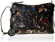 Piero Guidi Magic Circus Borsa a Tracolla, 29 cm, Nero