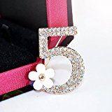 Lily Jewelry Exquisite scintillante oro numero 5serie Swarovski Cristallo Austriaco Spilla per le donne