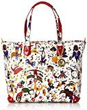 Piero Guidi 21B87 Magic Circus Soft Borsa Tote, Sintetico, Frutti Rossi, 30 cm