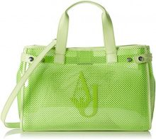 Armani Jeans 9225917p780, Borsa a mano Donna, Verde (Lime 00360), 13x27x41 cm