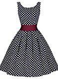 MIUSOL Estivi Vintage Donna Vestiti Elegante Cerimonia Senza Maniche Vestito