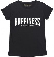 T-Shirt Donna Splendida - Happiness Stronger Equipe Nera