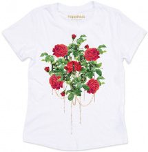 T-Shirt Donna Splendida - Rose Glitter