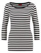 DANNELA - Maglietta a manica lunga - black/white