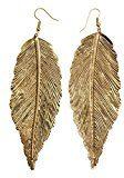 Golden Leaf orecchini di goccia Hook - aspetto antico ciondola gli orecchini Set - Donne Moda Gioielleria Regali e accessori