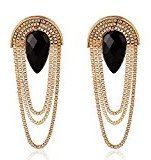 Elegante oro Multi Strand catena in metallo a forma di goccia orecchini pendenti by Pashal...