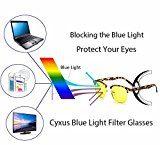 Cyxus blu luce filtro occhiali [anti affaticamento] uv blocco,lenti gialle