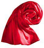 Sumolux Sciarpa in Raso Colore Puro Stole Scialle Serico Quadrato Nuovo Stile per Donna