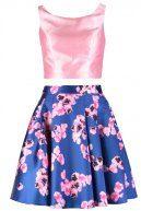 Vestito elegante - blau/rosa