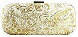 Girly HandBags Nuovo Tessuto Floreale Pochette Borsa Sacchetto Da Cerimonia Nuziale Elegante Del Merletto Della Spalla Del Sacchetto Di Mano Scatola Duro Valigetta Cartella Sera (Nero)