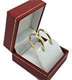 1 paio di piccoli orecchini a cerchio in oro a 18 carati classico/750 giallo (2.9 x 22.5 Ø mm) - PRI211