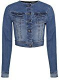 oodji Ultra Donna Giacca in Jeans Corta