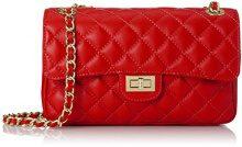CTM Borsa da Donna Elegante, Pelle trapuntata, 27x17x9cm, Vera pelle 100% Made in Italy