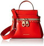 TWIN SET As7pw4, Borsa a Tracolla Donna, 10x18x23 cm (W x H x L)