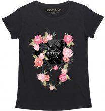 T-Shirt Donna Splendida - Borsa Rose Nera