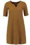 Vestito di maglia - black/mustard