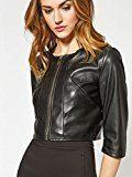 Motivi: giacca donna, modello biker corto effetto pelle. (Italian size)