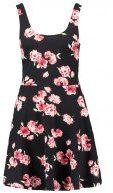 Vestito di maglina - black/pink