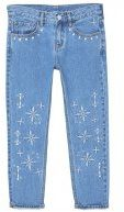 EMBROPAN - Jeans baggy - medium blue