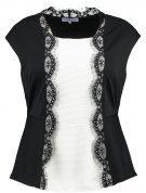 T-shirt con stampa - black/cloud dancer