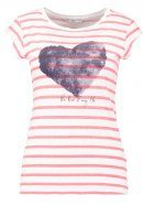 ONLBONE  - T-shirt con stampa - cloud dancer/tea rose