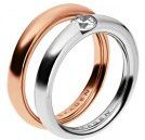 ELIN 2 PACK - Anello - rosegold-coloured
