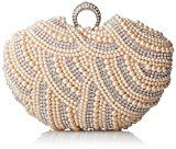 Damara da donna lusso speciale cristalli perline perla frizione borsa