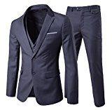 Completo da uomo vestibilità moderna, in 3 pezzi con Blazer, gilè e pantaloni