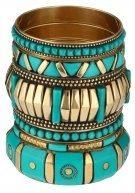 CERASSEN SET - Bracciale - turquoise