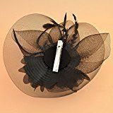 Capelli della Piuma Fiore Clip Donne Accessorio per Capelli da Sposa per Halloween Cocktail Cerimonia