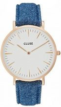 Cluse LA BOHÈME Orologio rose goldcoloured/white/denim