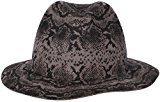 Loevenich cappello di feltro Fedora/Trilby con stampa animale in serpente ottica della pelle