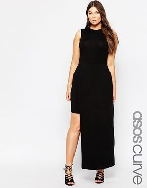 ASOS CURVE - Vestito aderente con gonna incorporata
