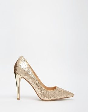 Head Over Heels By Dune - Audrine - Décolleté con tacco oro glitter