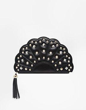 Missco Girl - Pochette a ventaglio con borchie