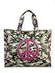 CACO Design Shopper Camouflage Grande Pace, Borsa a Spalla Donna, Rosa (Fuxia), 8x42x41 cm (W x H x L)