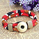 MULBA Uomini Bracciale Vintage Wristband Camouflage Bracciale Sl3366 (Red)