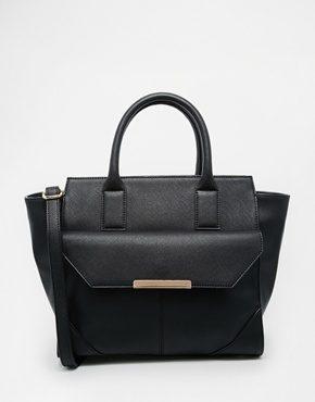 ASOS - Maxi borsa con lati ad aletta e tasca