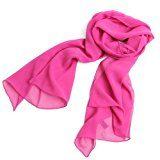 Prettystern - uni- tinta unita semplice scialle in seta pura Sciarpa Stole - 30 colori selezionabili