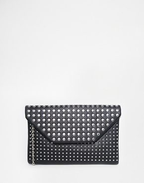 New Look - Pochette a busta borchiata