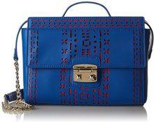 Trussardi 75bl2753, Borsa a tracolla Donna, Multicolore (Red/Blue), 25x18x8 cm (W x H x L)