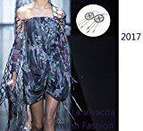 La Vivacita® designer di lusso - Orecchini con acchiappasogni in argento 925 e cristalli Swarovski rotondi, regalo di qualità