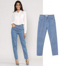 Jeans a vita alta a gamba dritta