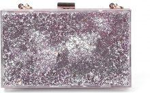 Clutch con case liquido glitter