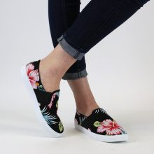 Slip-on con stampa a fiori tropicali