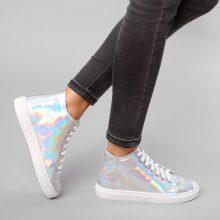 Sneakers alte metallizzate